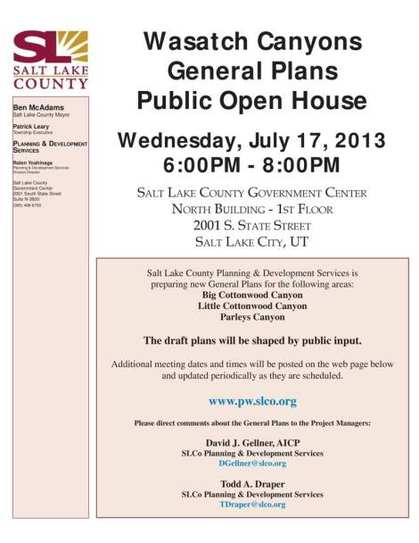 General Plan Open House 2 announcement